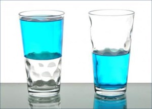 two glasses one half full, the other half empty live-with-gratitude